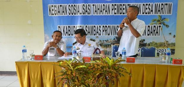 Bakamla RI dan Masyarakat Pesisir Sambas Bahas Desa Maritim