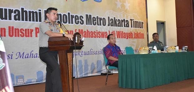 Walikota Jaktim dan Kapolres Silahturahmi Dengan Mahasiswa