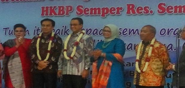 Wujud Jiwa Nasionalis Anies Baswedan Resmikan Gereja HKBP Semper