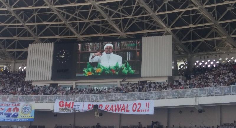 Habib Rizieq Bilang Kemenangan Prabowo-Sandi Sudah Terlihat