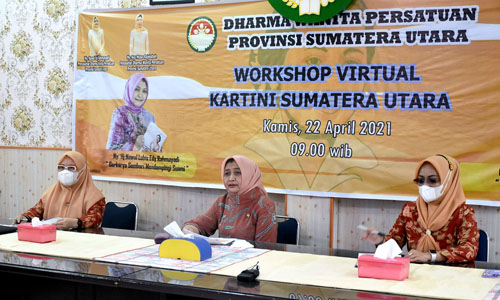 Workshop Virtual Hari Kartini Nawal Lubis Sampaikan Tentang Tanggung Jawab Istri Mendampingi Suami