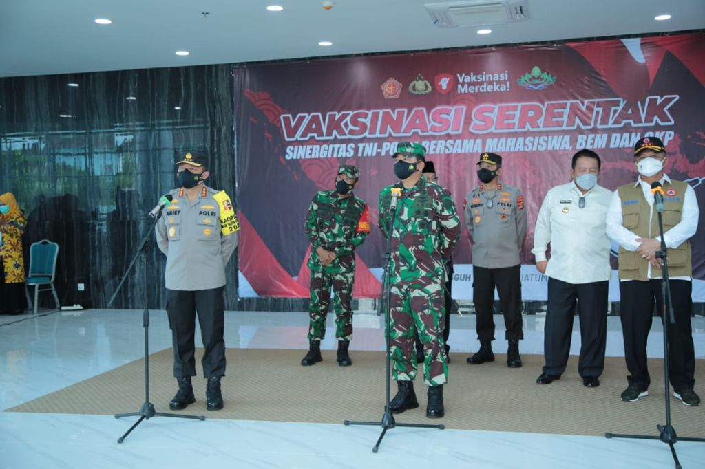 Kapolda Lampung Targetkan Vaksin di UIN Raden Intan Sebanyak 1500 Vaksin