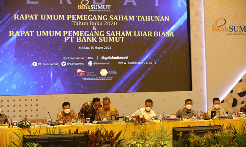 RUPS LB PT BANK Sumut Angkat Komut Datuk Syaiful Azhar