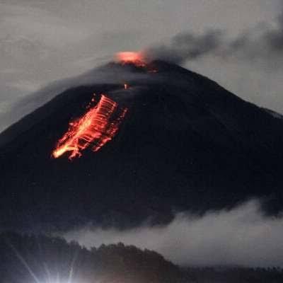 Gunung Semeru Muntahkan Awan Panas, 550 warga Mengungsi