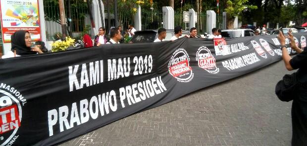 KPN-GP 2019 Dukung Prabowo Jadi Presiden Pengganti Jokowi