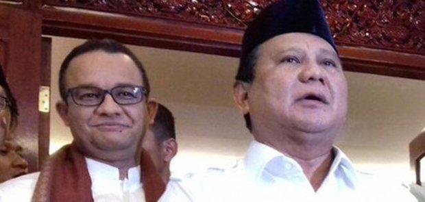 Anies Masuk Daftar Cawapres Prabowo