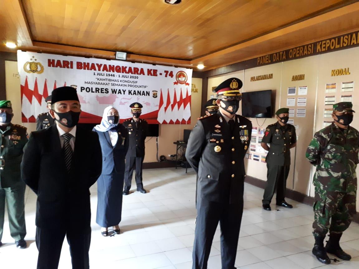 Upacara Hari Jadi Bhayangkara 74 Dilaksanakan secara Virtual