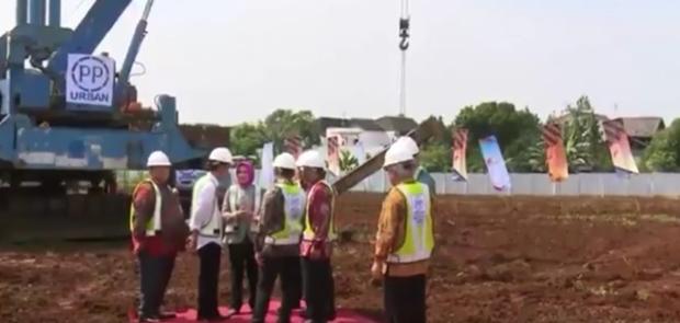 Presiden Lakukan Peletakan Batu Pertama Proyek Rumah DP 1 Persen