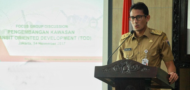 Sandiaga Buka Focus Group Discussion bertema Pengembangan Kawasan Transit Oriented Development