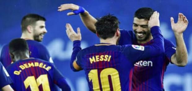 Gol Messi dan Suarez Selamatkan Barcelona