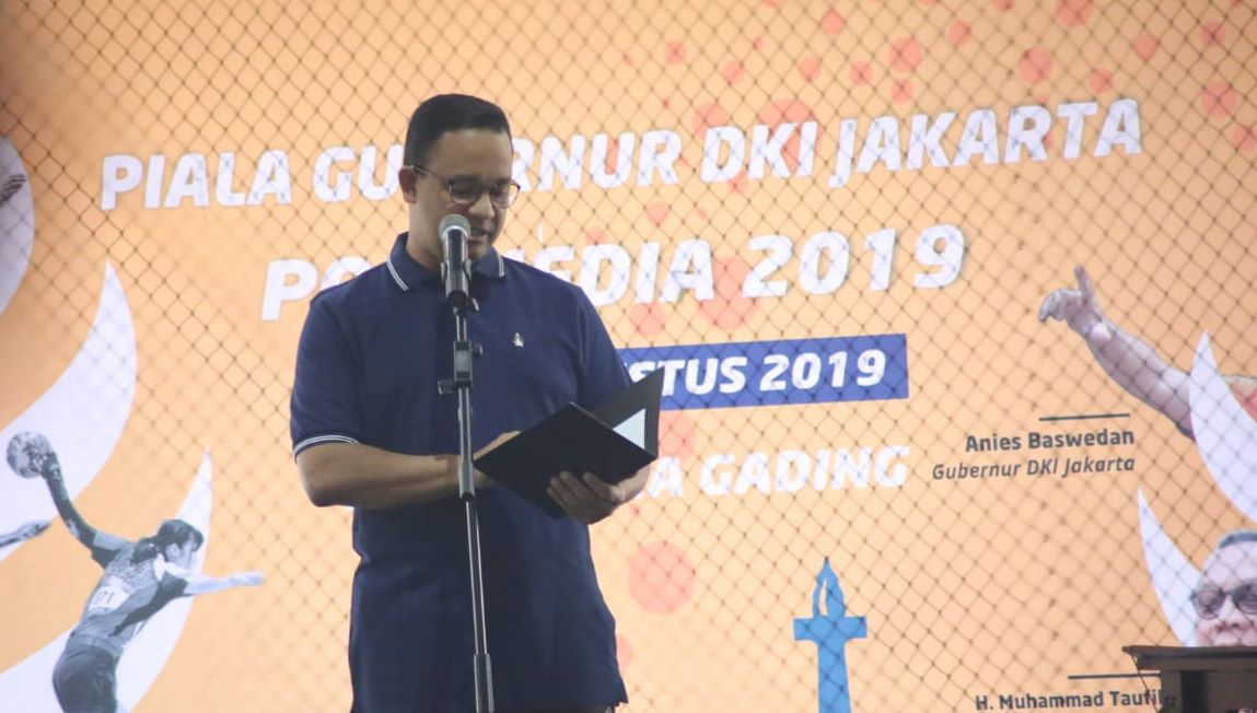 Buka Piala Gubernur DKI Jakarta POR Media 2019, Anies Harap Turnamen Ini Jadi Agenda Tahunan