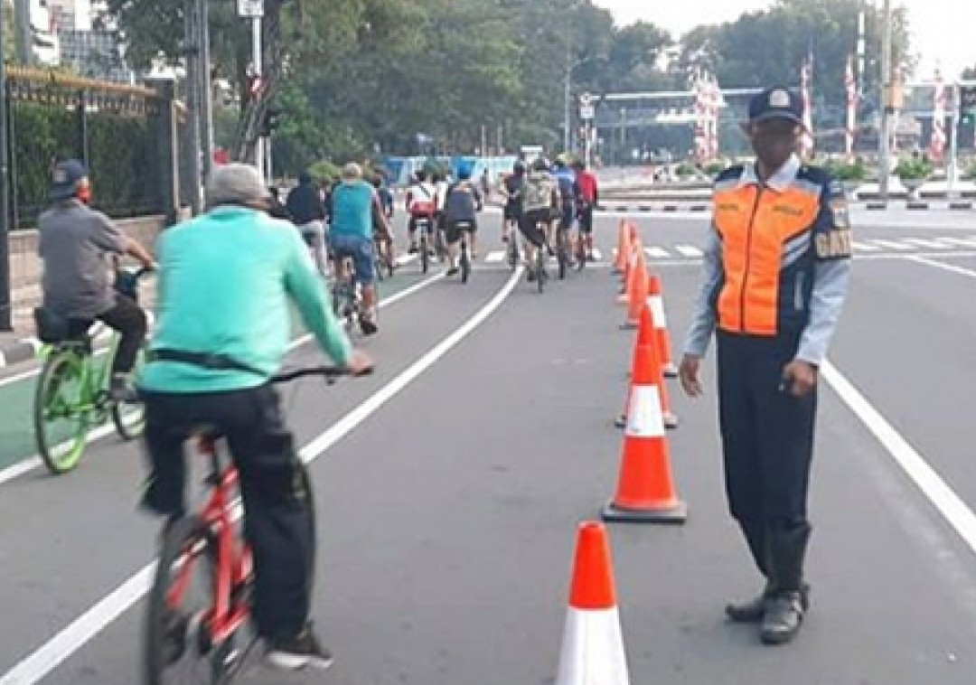 Dishub DKI Evaluasi Pengadaan Jalur Sepeda di Jalan Sudirman-Thamrin