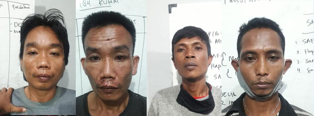 Pelaku Pencurian Tiang Telkom di Kecamatan Kalianda dan Sidomulyo, Akhirnya Diringkus