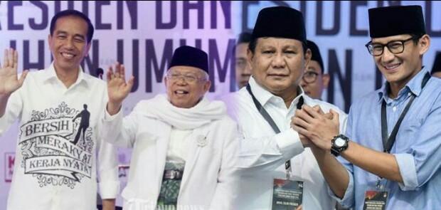 Jokowi-Ma'ruf Amin Dapat Nomor Urut 1, Prabowo-Sandi Nomor Urut 2