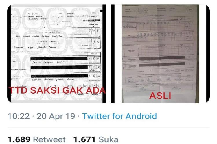Innalillahi ...! KPU Diduga Upload Formulir C1 Bodong ke Situng