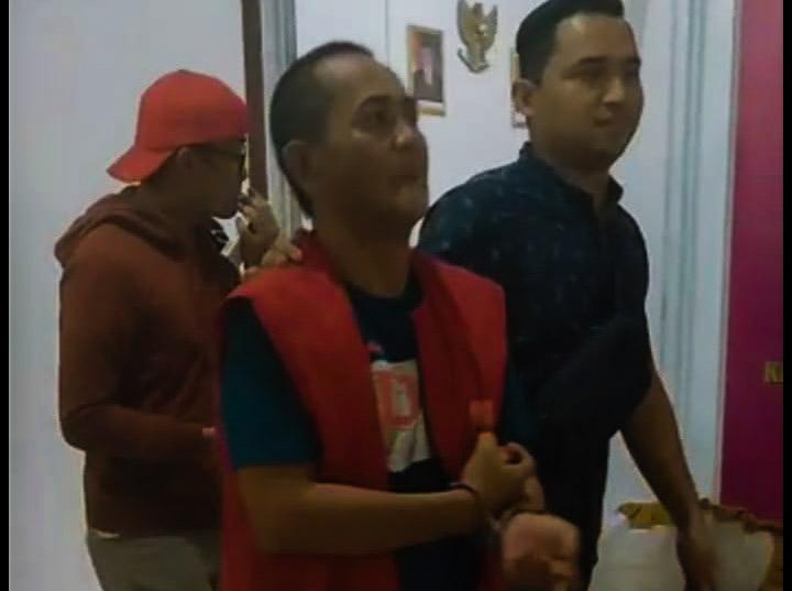 Kepala Kampung Argomulyo Kecamatan Banjit Way Kanan Di Jemput Paksa Terkait  Dugaan Korupsi Bansos