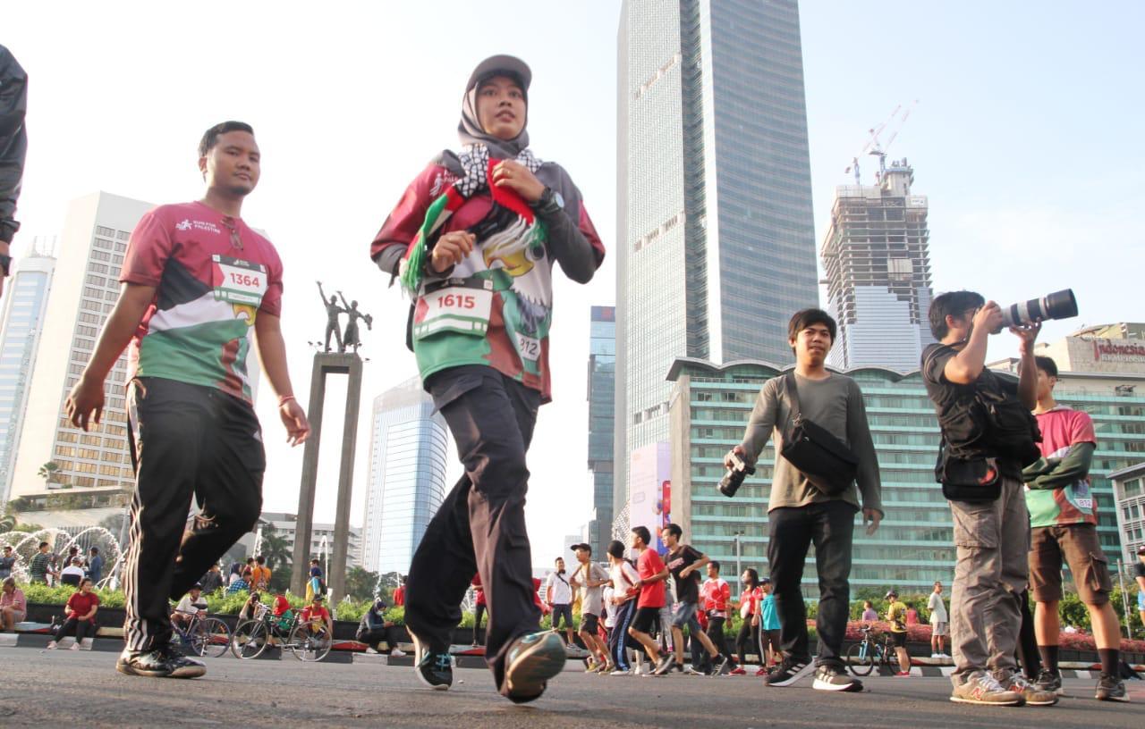 Ribuan Masyarakat Indonesia Ramaikan Run for Palestine di Jakarta