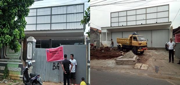 2 Bulan Disegel,Bangunan Untuk Minimarket Belum Juga dibongkar