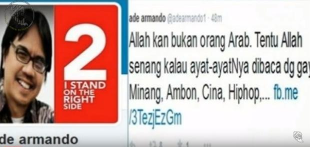 Hakim Perintahkan Buka Kembali Kasus Penodaan Agama Islam oleh Ade Armando