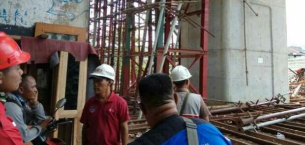 Crane Roboh, Pengerjaan Double-double Track Dihentikan Sementara