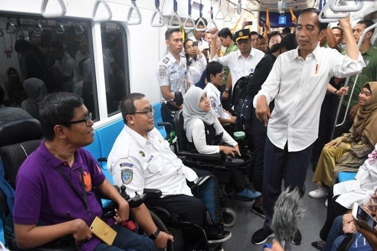 Resmikan MRT, Jokowi: Ini adalah Peradaban Baru Kita