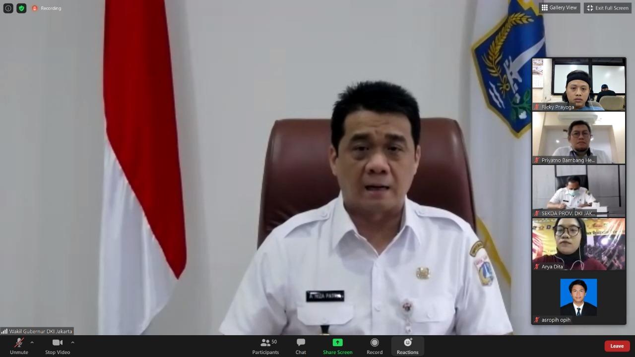 Libatkan Daerah Lain, Wagub DKI : Regulasi Penanganan Covid-19 Jadi Rujukan