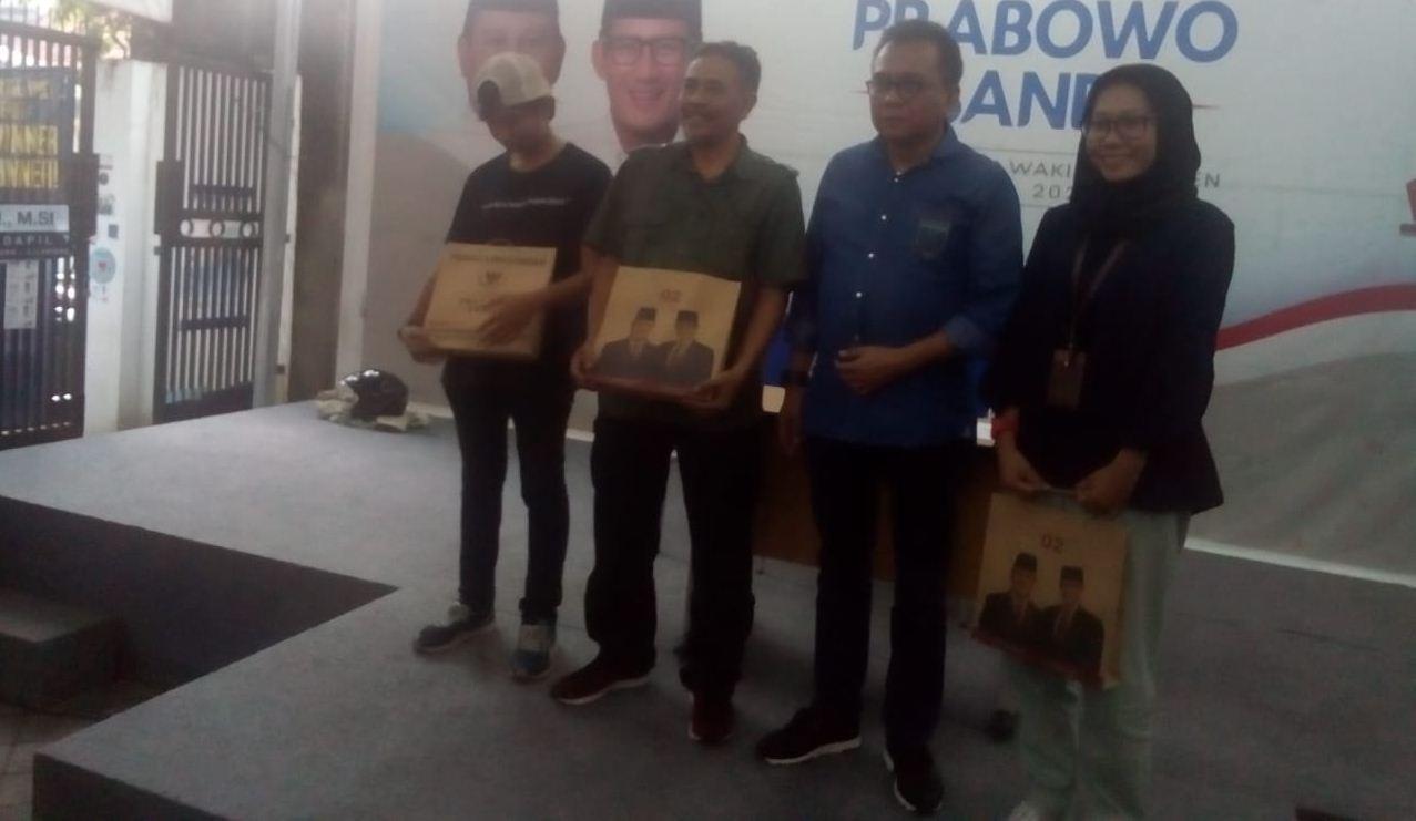 Seknas Prabowo-Sandi Umumkan Pemenang Lomba Foto Kampanye Akbar