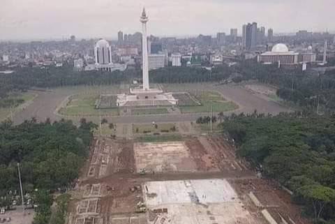 Fraksi PDIP Desak Anies Hentikan Proyek Revitalisasi Monas