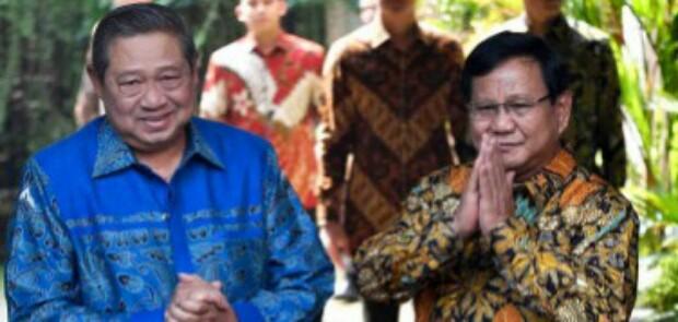 Diduga Karena Labelisasi Jenderal Kardus, Pertemuan SBY-Prabowo Berlangsung Singkat