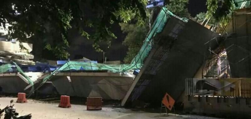 Konstruksi LRT Ambruk, 5 Pekerja Terluka