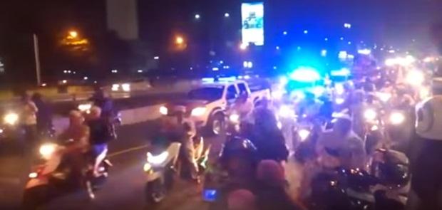 Ribuan Massa FPI dan LPI Takbir Keliling Jakarta