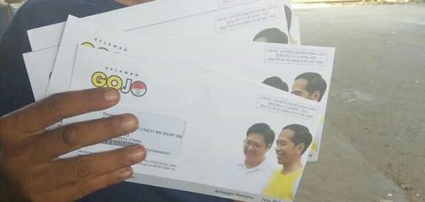 Kirim Surat Dukungan untuk Jokowi ke Warga, Relawan Gojo Dituding Curi Start Kampanye