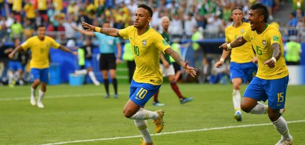 Tundukkan Meksiko, Brasil ke Perempat Final Piala dunia 2018