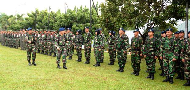 105 Perwira Siswa Sekkau Angkatan 102 Gelar Latihan Perang