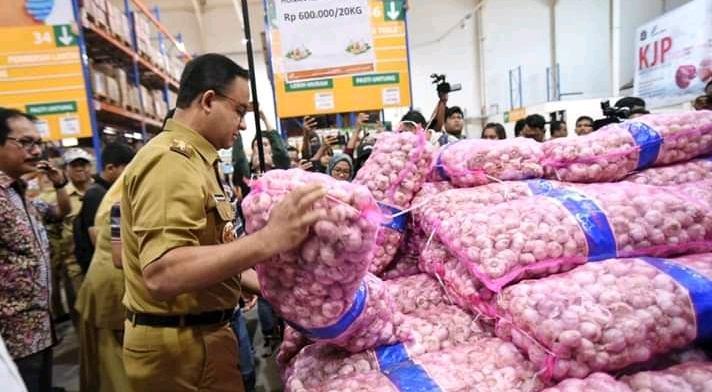 Jakarta Dibanjiri 145 Ton Bawang Putih dari Tiongkok