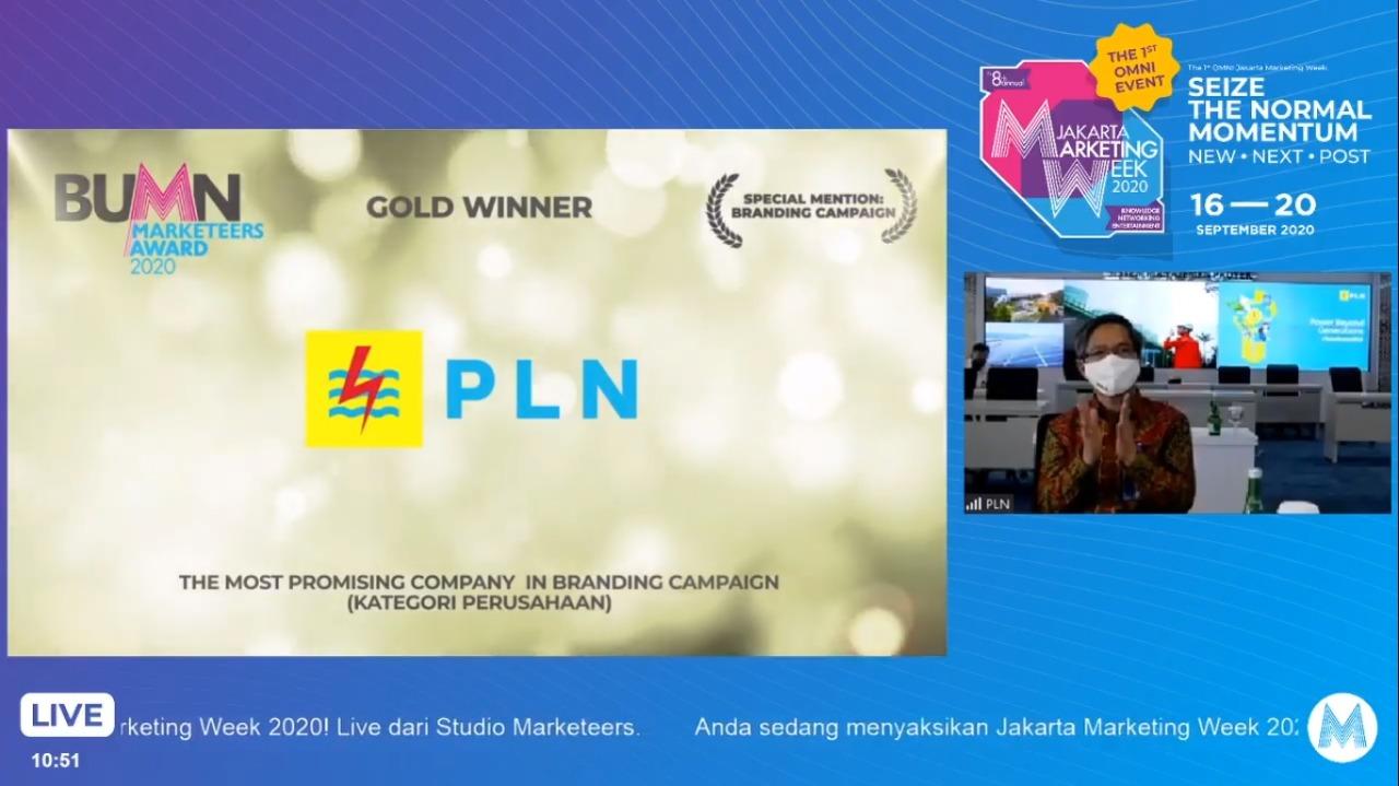 Sabet 3 Penghargaan Marketeers Award 2020, Erick Tohir Minta PLN Terus Berinovasi