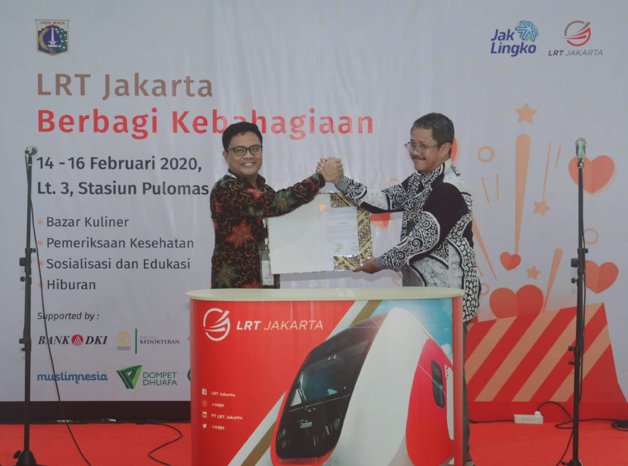 Sinergi Antar BUMD DKI, LRT Jakarta Manfaatkan Layanan Bank DKI