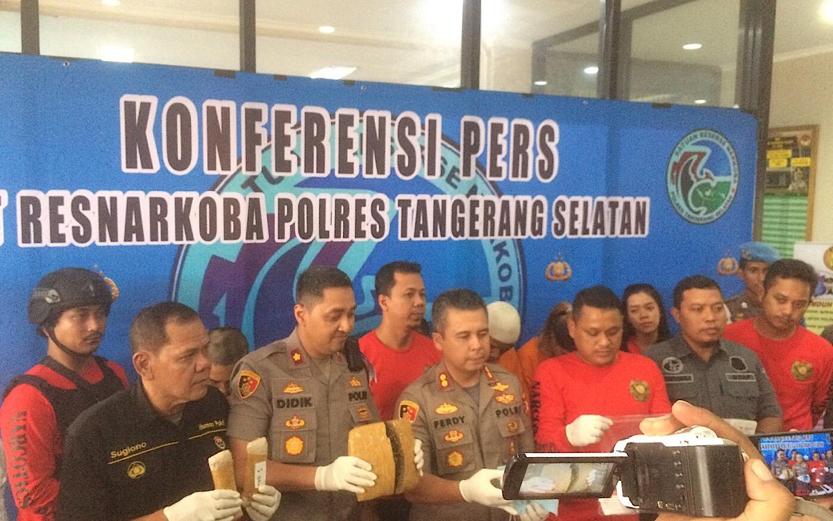 Sembunyikan Sabu, Warga Thailand Diamankan Polres Tangsel