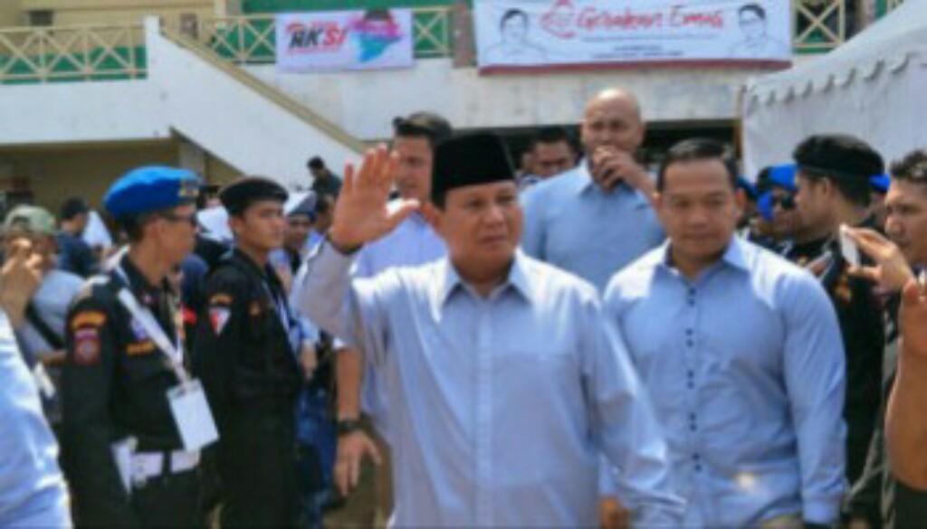 Prabowo Janji Akan Kembali Jadikan Indonesia Sebagai Macan Asia