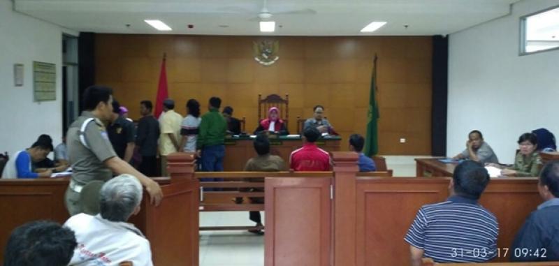 Satpol PP Jaktim Gelar Sidang TIPIRING di Pengadilan