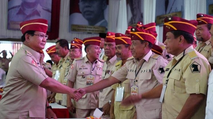 Pensiunan TNI-Polri Deklarasi Tolak Hasil Pemilu 2019
