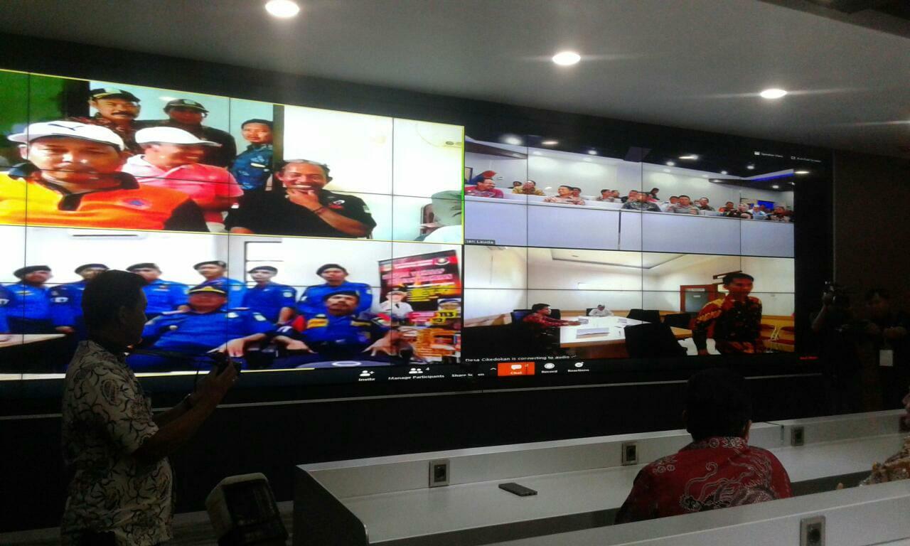 Peresmian Aplikasi Bebunge, Call Center 112, Commad Center Sidalmentel dan Newsroom Diskominfosantik Kabupaten Bekasi