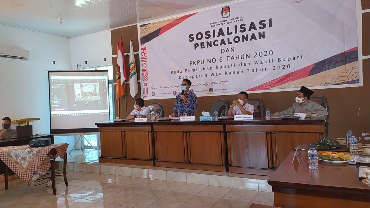 Ketua KPU Provinsi Lampung Erwan Bustami Penambahan syarat Calon Bebas Covid-19