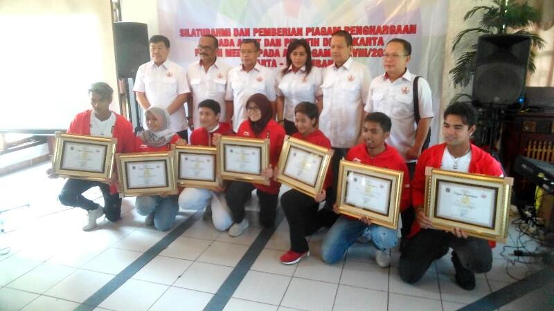 KONI DKI Berikan Piagam Kepada Pelatih, Wasit dan Atlet Peraih Medali Asian Games 2018