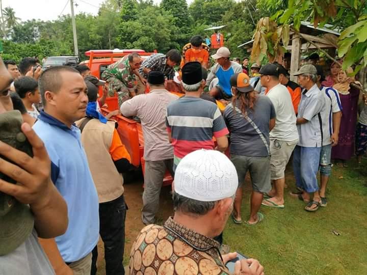 Korban Hanyut  Warga Kampung Banjar Ratu Gunung Labuan  Akhirnya Ditemukan Setelah 3 Hari Pencarian