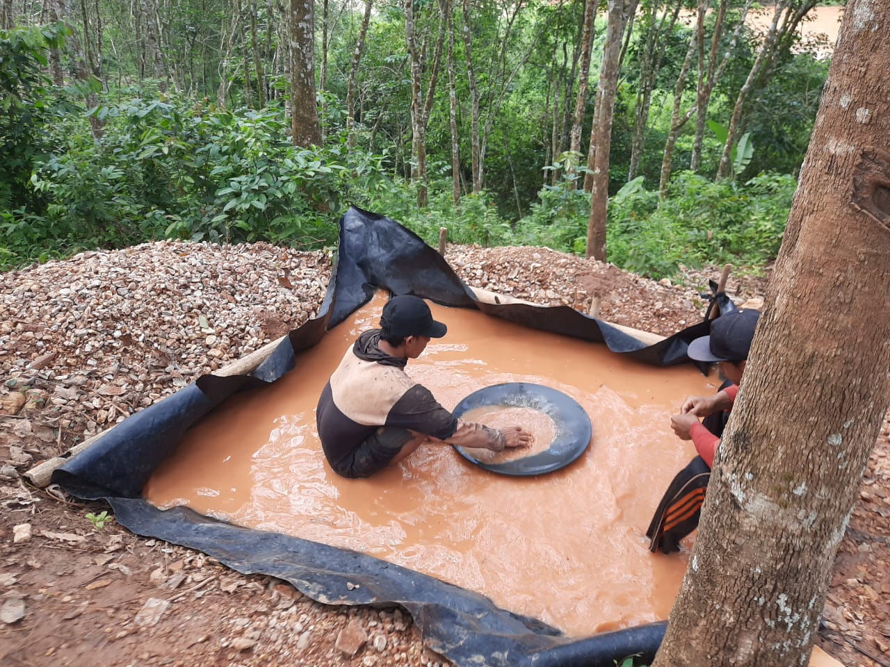 Tambang emas ilegal di Way Kanan Marak