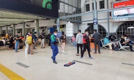 41.066 Pemudik Telah Berangkat dari Stasiun Pasar Senen