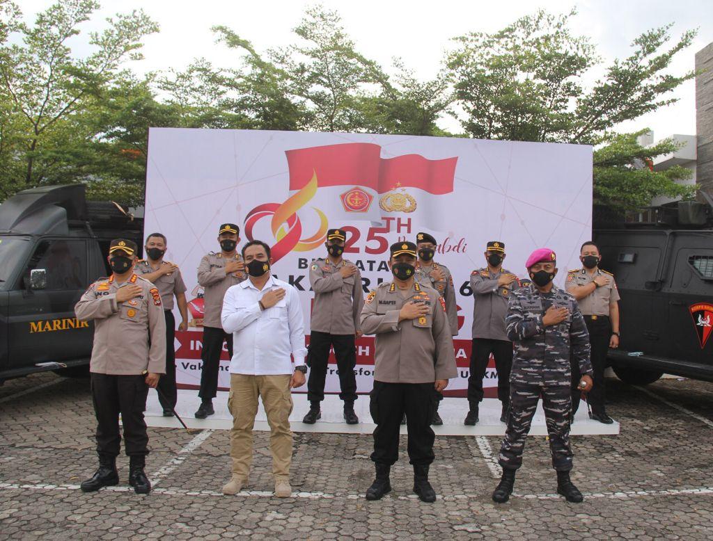 Tinjau Baksos Alumni Akabri 96, Kapolda  Berharap Dapat Beri Kontribusi Dalam Percepatan Vaksinasi di Lampung