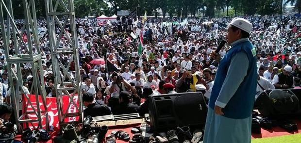 Tabligh Akbar GNPF di Garut Sukses, KH Nonop: Terima Kasih Banser