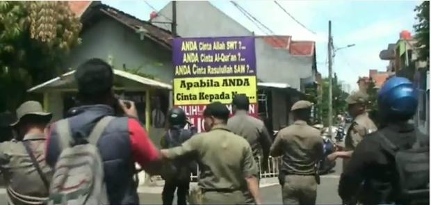 Polisi Akan Tidak Pelaku Pemasang Spanduk Provokatif